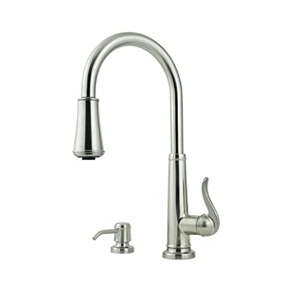 Image Unavailable. Image not available for  sc 1 st  Amazon.com & Pfister Ashfield 1 2 3 or 4-Hole Pull-down Stainless Steel ...