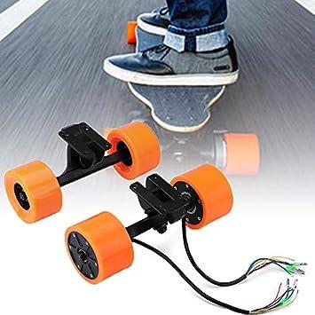 Pinkfishs 550W 90mm 6364 Dual Hub Motor sin escobillas Kit de Rueda para patinetas eléctricas Longboard -: Amazon.es: Deportes y aire libre