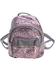 Tinksky Mini Backpack Bling Bling Sequins Tiny Backpack Satchel School Bag Korea Style bag gift for Women Girls...