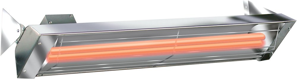 Infratech WD6024SS Dual Element 6,000 Watt Electric Patio Heater, Choose Finish Stainless Steel