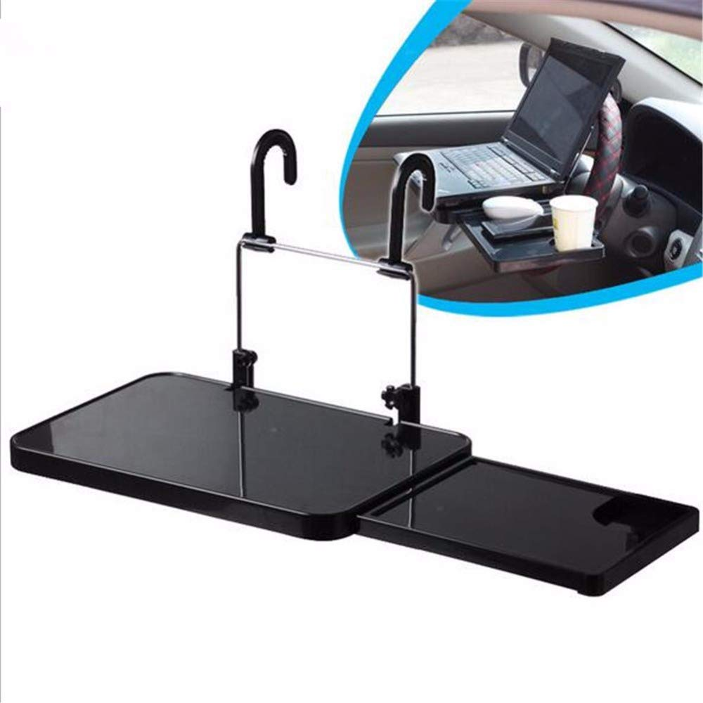 XuBa Car Laptop Holder Back Seat Notebook Stand Car Cup Holder Dining Table Foldable Laptop Stand