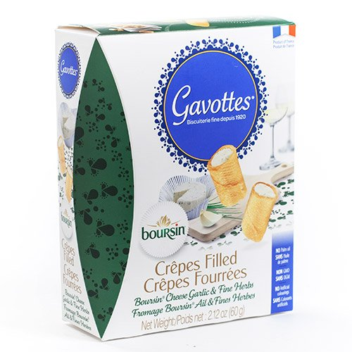 Gavottes Crepes Filled with Boursin Cheese Garlic & Fine Herbs (2.12 ounce) ()