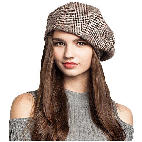 """Maitoseâ""""¢ Women's Wool Beret Octagonal Cap Coffe"""