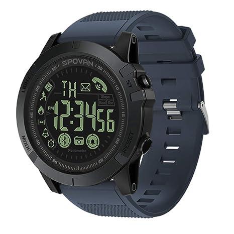 JEOHMMA Reloj Inteligente para Hombres, T1 Tact Deportes al Aire Libre Relojes Inteligentes Bluetooth con