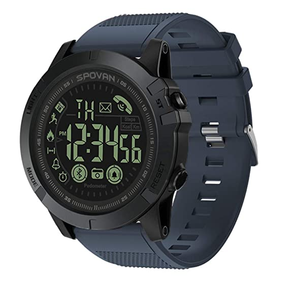 T1 Tact Grado Militar Super Resistente Reloj Inteligente Reloj de Deportes al Aire Libre Mens Digital Podómetro Impermeable Contador de calorías ...