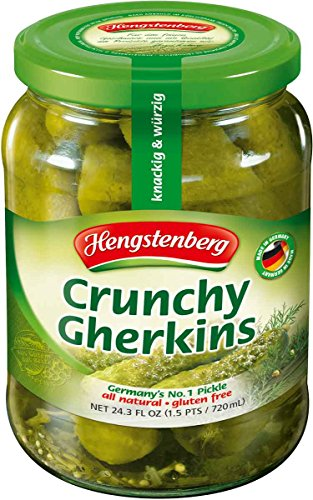 Hengstenberg Crunchy Gherkins, 24.3 Ounce (Pack of 12) by Hengstenberg