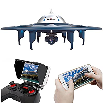 UDI U845 WiFi Voyager-WiFi FPV Drone RC Quadcopter UFO with 720P HD Camera, Bonus Battery Included, Upgrade Version from Cheerwing