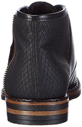 01 Rieker50620 Negro Schwarz Mogano Zapatos Planos con Mujer Cordones Schwarz Schwarz 6FT1q6wv