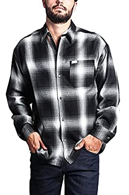 G-Style USA Western Casual Plaid Long Sleeve Button Up Shirt