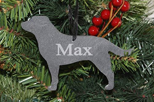 Custom Labrador Retriever Slate Ornament - Personalized Memorial for your -