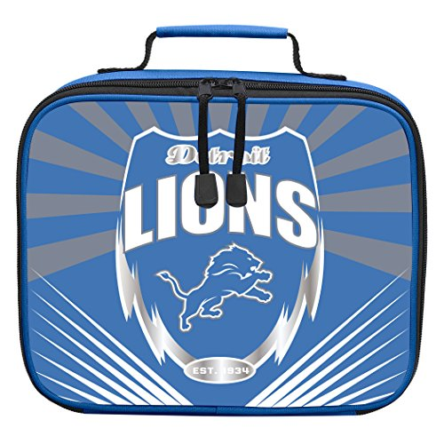Box Lunch Lions (The Northwest Company Officially Licensed NFL Detroit Lions Lightning Kids Lunch Kit, Blue)