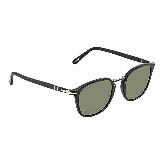 Persol Men s 0Po3186S 95 31 51 Sunglasses, (Black Green)  Amazon.co ... 8521c845e7b4