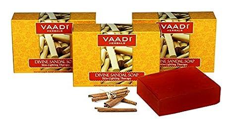 Vaadi Herbals Divine Sandal Soap with Saffron & Turmeric 75g by VAADI Herbals 2eE2euGR8m