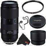 Tamron 100-400mm f/4.5-6.3 Di VC USD Lens for Nikon F AFA035N-700 (International Model) + 72mm UV Filter + Lens Cap Keeper + MicroFiber Cloth Bundle