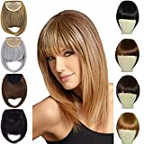 8'' Two Side Hair Clip in On Hair Bangs Fringe Forehead Bang Synthetic Hair Extensions for Women Lady Girl