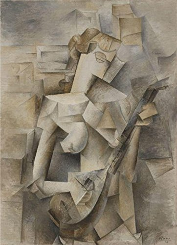 Picasso Canvas Frame (Oil Painting 'Pablo Picasso-Girl With A Mandolin,1910' Printing On Perfect Effect Canvas , 20x28 Inch / 51x70 Cm ,the Best Nursery Decoration And Home Decor And Gifts Is This Imitations Art DecorativeCanvas Prints)