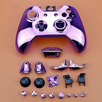 Carcasa cromada con Botones para Mando inalámbrico Xbox One, Juego Completo de Piezas de Repuesto Shipping: Amazon.es: Electrónica