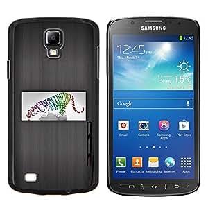 EJOOY---Cubierta de la caja de protección para la piel dura ** Samsung Galaxy S4 Active i9295 ** --Arte del tigre Gato Color Animal