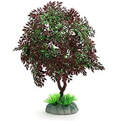 uxcell Fishbowl rium Landscape Decoration Plastic Tree Home Decor w/Stand