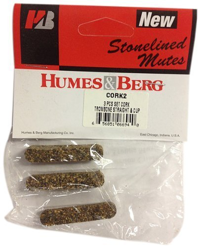 Humes and Berg 3 Pcs Set Cork Trombone Straight and Cup (CORK2)