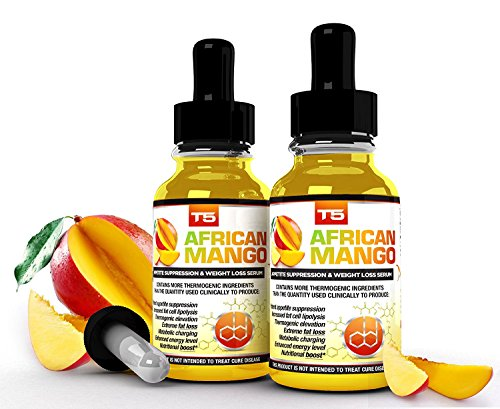 x2 T5 African Mango Serum: Powerful T5 Fat Burners & African Mango Blend for Extreme Weight Loss/Slimming/Fat Burning (2 Month Supply)