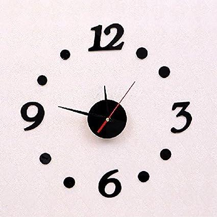 ZHUNSHI Reloj de pared Digital relojes relojes decorativos relojes de moda BRICOLAJE creativo acrílico relojes pared