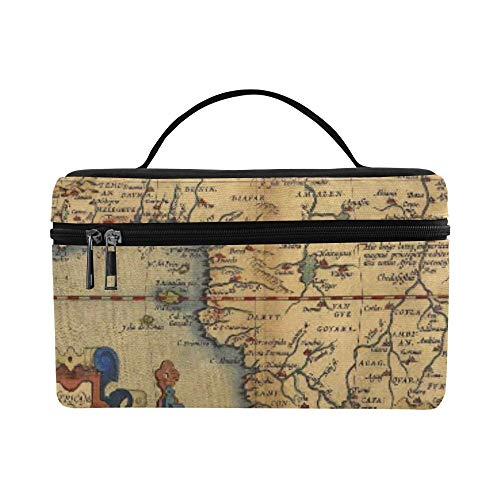 Antique Map Of Africa By Abraham Ortelius Circa Pattern Lunch Box Tote Bag Lunch Holder Insulated Lunch Cooler Bag For Women/men/picnic/boating/beach/fishing/school/work
