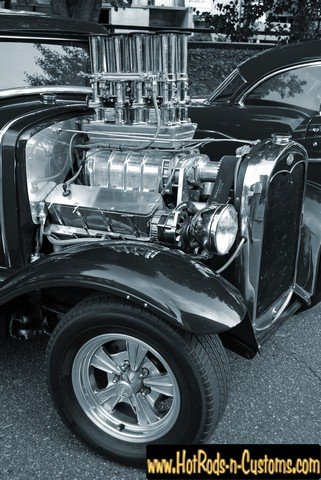 (Full House Supercharged Coupe Photo 8 1/2 X 11 Photograph Art Automotive CAR Gift HOT Rod Rat Rod Classic Antique Museum Collection)