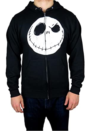 Disney Nightmare Before Christmas Mens Zip-up Hoodie Medium Black ...