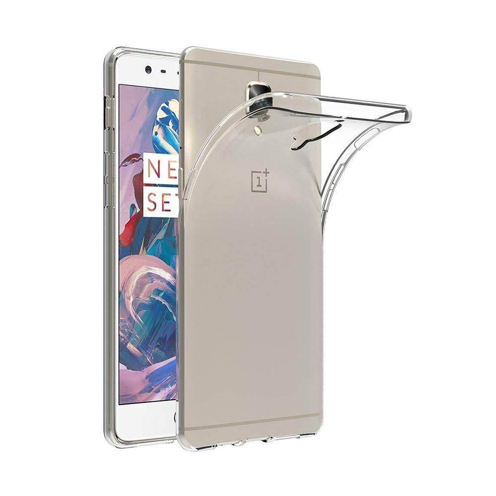 newest f85ba 46602 YuBingo Back Cover for OnePlus 3 and OnePlus 3T (360 Degree, Mobile Case,  Transparent, Soft Silicone, TPU)