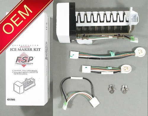 Nuclear Ice - OEM FACTORY ORIGINAL GENUINE FSP WHIRLPOOL KENMORE MAYTAG ICE MAKER KIT (Replaces these part #'s - 4317943, AP2984633, 1857, 4210317, 4211173, 4317943