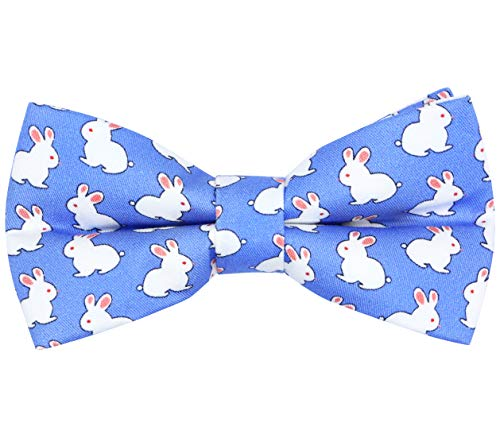 OCIA Cotton Cute Pattern Pre-tied Bow Tie Adjustable Bowties for Mens & Boys Rabbit