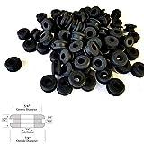 Lot of 50 Rubber Grommets 3/8'' Inside Diameter- Fits 5/8'' Panel Holes