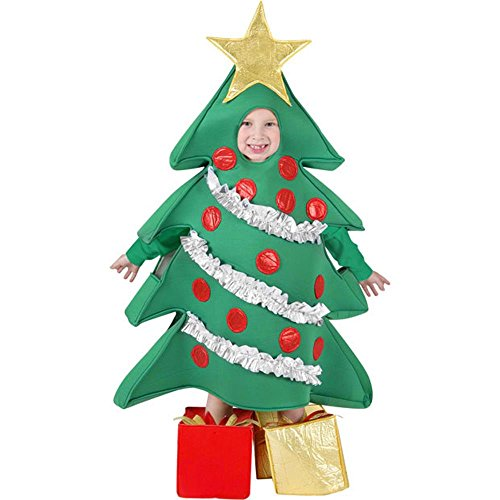 [Funfill Boys Christmas Tree Halloween Costume] (Halloween Tree Costume)