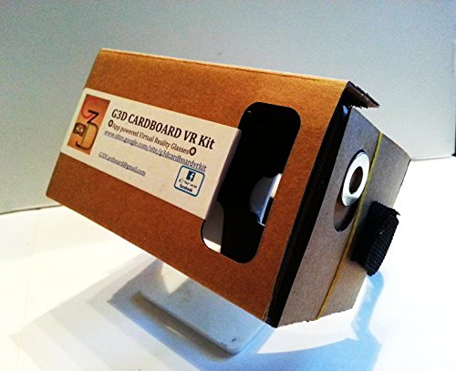 G3D Cardboard VR Kitc GOOGLE CARDBOARD DIYc Pre-Assembledc 3D/4D Virtual Reality Glassesc W/ NFC & Head Strap