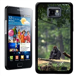 Fancy A Snuggle diseño de gorila carcasa rígida para Samsung Galaxy S2 i9100
