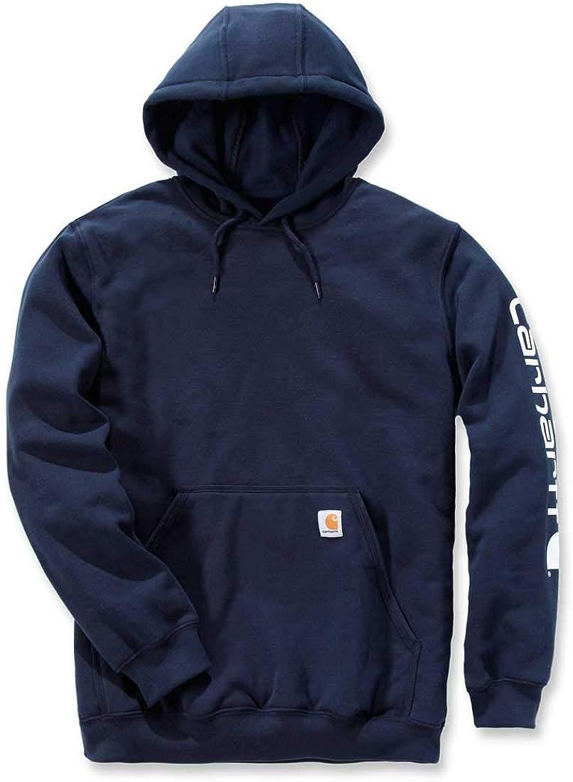 Carhartt Workwear K288 Herren-Sweatshirt mit Kapuze - Mittelschwer - Langärmelig mit Logo New Navy
