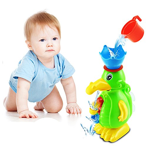 Sealive Cute Scoop Water Swimming Toys Rotating Cylinder Hourglass Play Sand Dredging Duck Baby Beach Pool Bath Toys Children Kids Toys,Big Duck Bath Toy Suitable for 1-15 Years Old Kids(1pc)