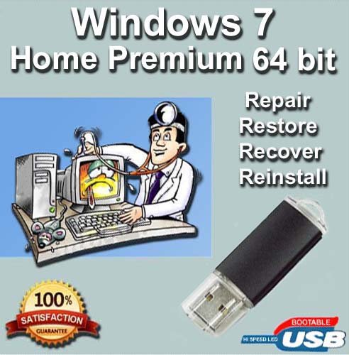 Windows 7 Home Premium 64-Bit Install | Boot | Recovery |...