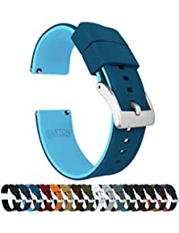 20mm Two Tone Blue (Flatwater) - Barton Elite Silicone Watch Bands - Quick Release - Choose Strap Color & Width