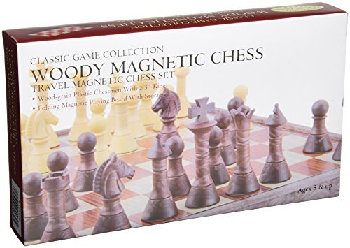 Woody Magnetic Travel Chess Set by Classic Game ()