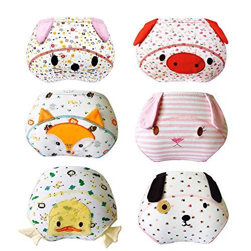Lazzon Babytrainerbroek onderbroek katoen potjetraining ondergoed voor baby's van 1 tot 3 jaar 6 stuks