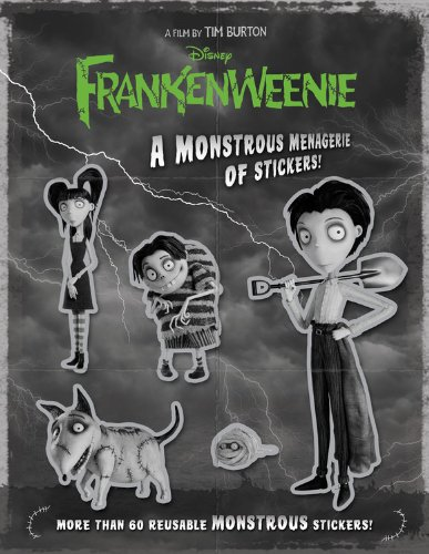 Frankenweenie A Monstrous Menagerie Of Stickers A Sticker Activity Storybook Burton Tim 9781423176930 Amazon Com Books