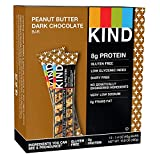 #4: KIND Bars, Peanut Butter Dark Chocolate, 8g Protein, Gluten Free, 1.4 Ounce Bars, 12 Count