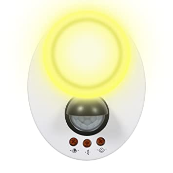 eecoo Casquillo E27 detector de movimiento IR infrarrojos, luz nocturna de bajo consumo (E27