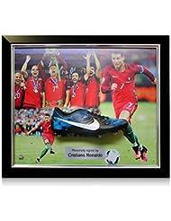 Cristiano Ronaldo Signed Framed Football Boot: Portugal Presentation | Autographed Memorabilia