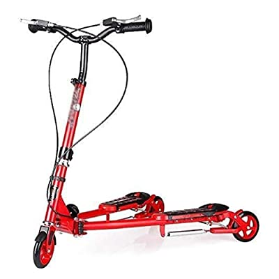 Scooter HLR Kick Bars, Adult Wheels, Kick Fast Folding Toddler for 5-12Yr Boy/Girl, Pu Wheel Adjustable Height Kick with Double Rear Brake, Max Load 100Kg : Sports & Outdoors