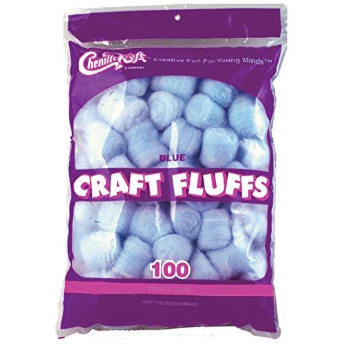 (Creativity Street FLUFF4OZ-6401 Craft Fluffs (100 Pack), 4 oz, Blue)