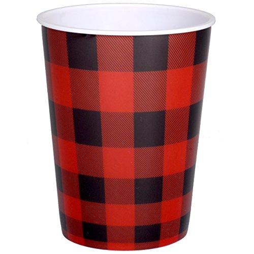 Buffalo Check Party Cup (16 oz. Plastic Souvenir Favor Cup) Buffalo Plaid Party Collection by Havercamp - Check Souvenir Cup