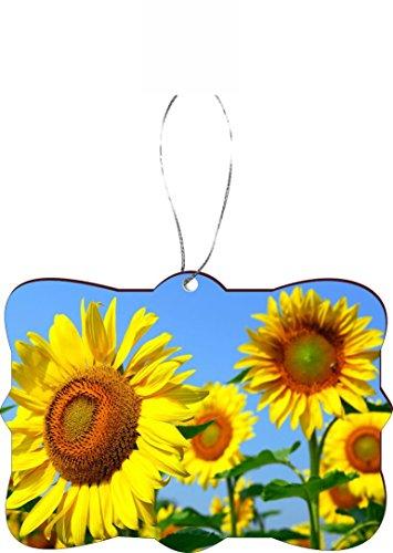 Rikki Knight RKWS-SQORN-1095 Sunflower Field Christmas Tree Ornament